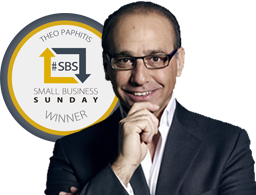 Former BBC Dragon's Den star Theo Paphitis award winners