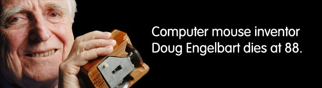 Computer mouse inventor Doug Engelbart dies at 88